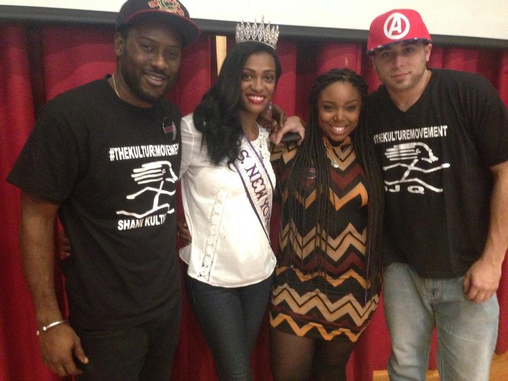 Shani, myself, Roxie Digital, and DJ Q