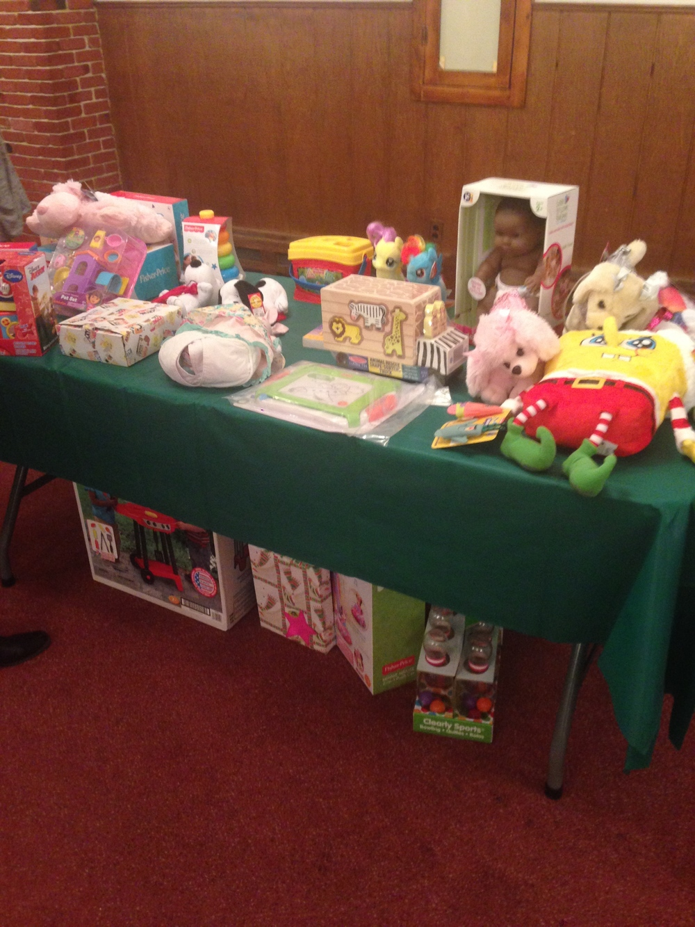Some of the toys to be given away.