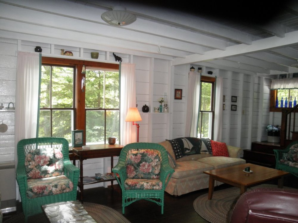 water front ocean cottage Boothbay Harbor Maine