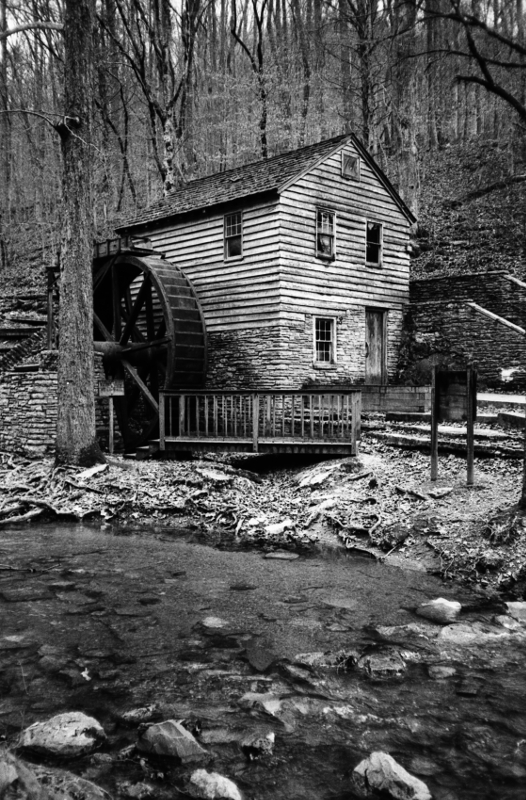 The Grist Mill at  Norris Dam State Park . I've probably taken a million photos of this place, but not with this camera.