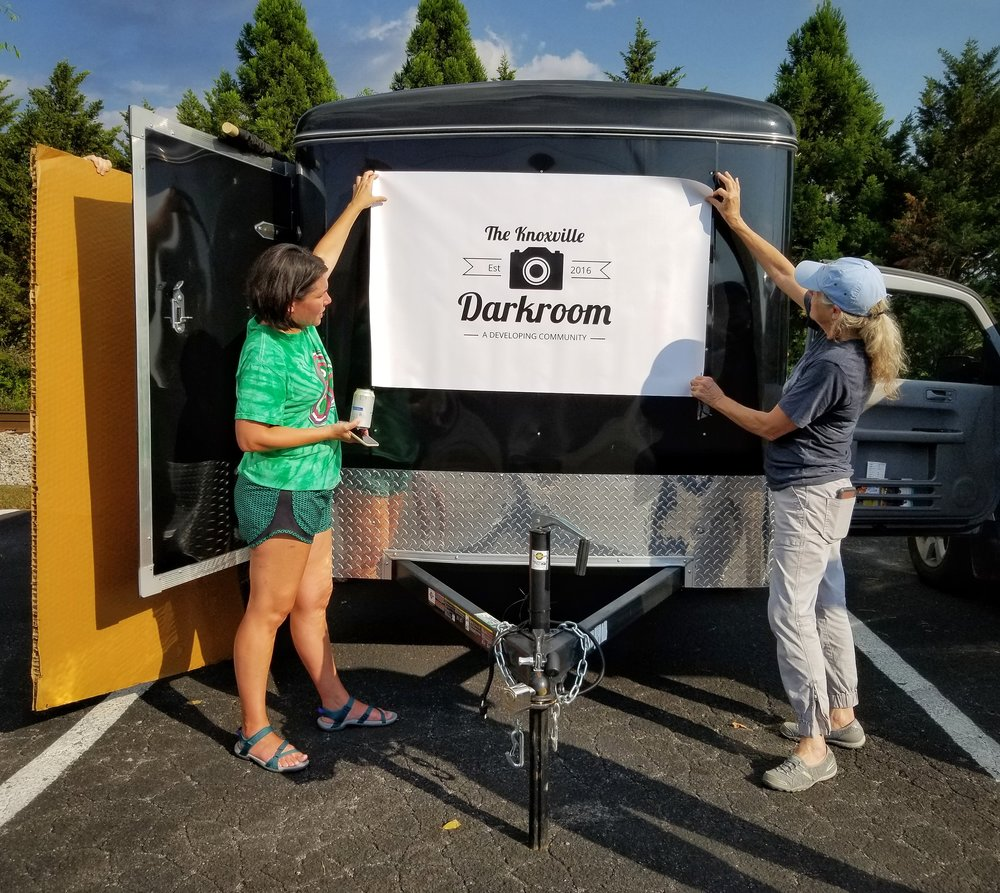 Work is underway on the new KCD mobile darkroom. When finished, this trailer will also function as a giant  camera obscura , allowing large images to be viewed and exposed directly on paper via a small opening on the opposite wall.