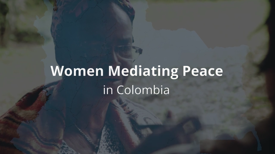 WOMEN & PEACEWomen Mediating Peace - With a peace agreement in sight and on the occasion of International Women's Day 2016, we created this video documenting efforts to strengthen the capacities of Colombia's women as mediators, supported by the United States Institute of Peace.