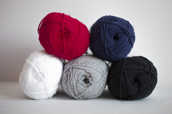 Colors (clockwise from top left): Red Delicious, Nantucket Blue, Holstein Black, Heathered Grey, Studio White