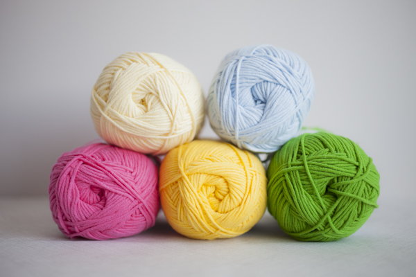 Colors (clockwise from top left): Chickadee Yellow, Sky Blue, Spring Green, Marigold, Hot Hot Pink