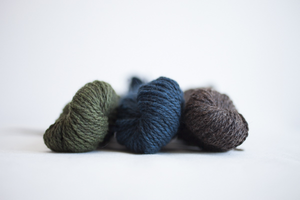 Colors (from left to right): Bog, Huckleberry, Barred