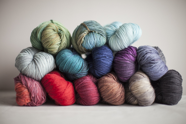 Colors (from top, left to right): Sprout, Lucky Penny, Frost, Chris Grey, Teal, Midnight, Plum, Dove, Sunset, Poppy, Garnet, Chestnut, Stone, Charcoal