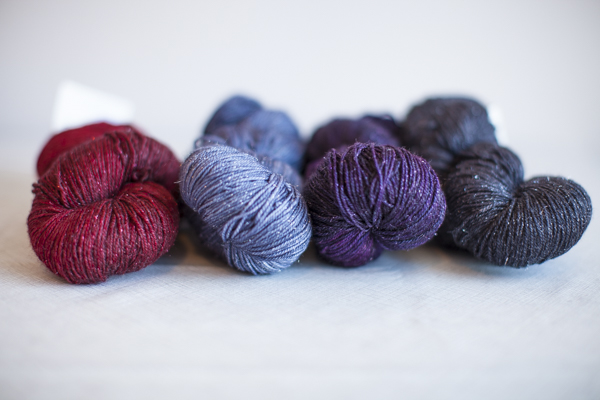 Colors (from left to right): Cherry Pie, Cailloux, Concord, Johnny