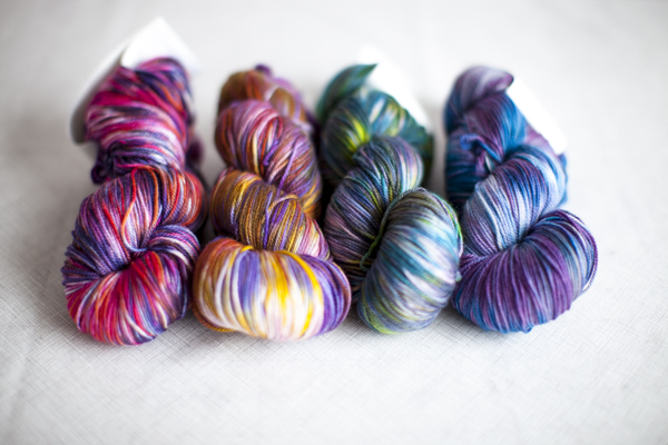 Colors (from left to right): Daliah, Nuit Automne, Paon, Orion