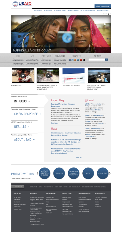 USAID redesign main page
