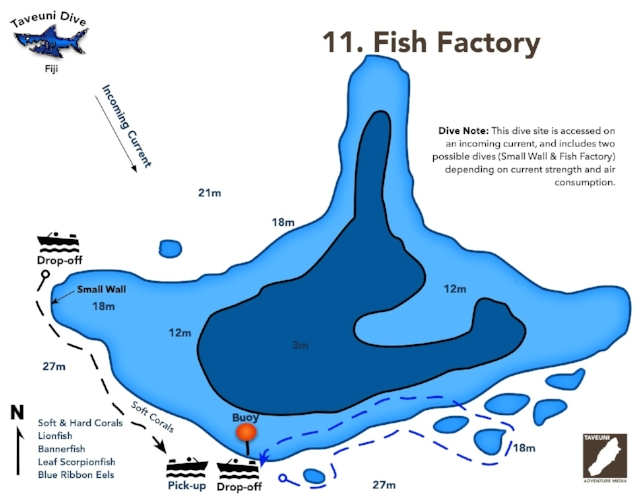 Fish Factory Dive Map | Return to Dive Sites