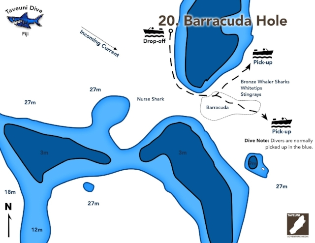 Barracuda Hole Dive Map    | Return to Dive Sites