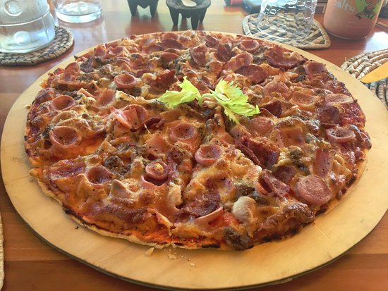 TDR's take on the meat lover's pizza
