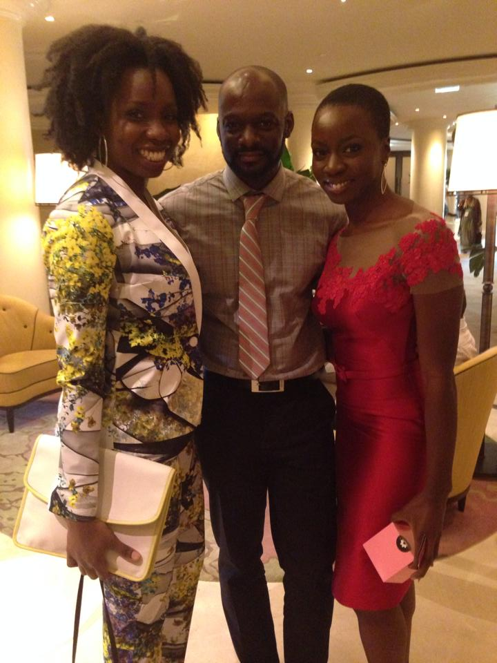 Photographer Michael Rowe with Adepero Oduye and Danai Gurira of The Walking Dead!