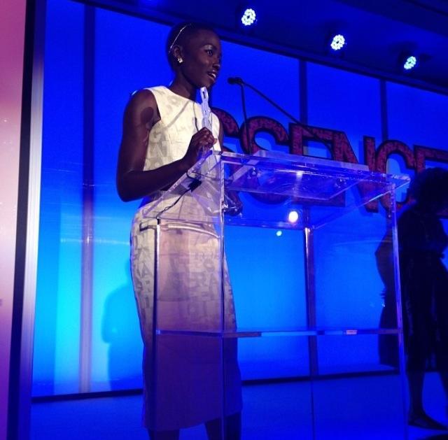 Lupita Nyong'o accepts honor!