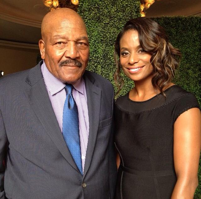 Jim Brown and wife Monique Brown!