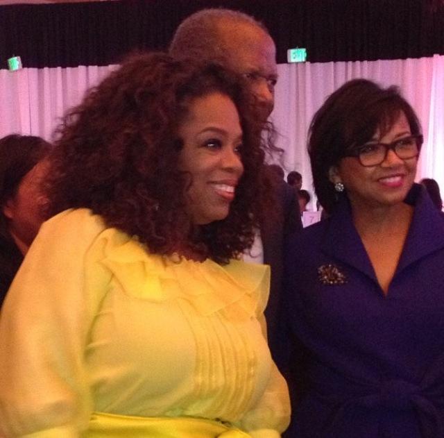 Oprah, Sidney Poitier and Cheryl Boone Isaacs!