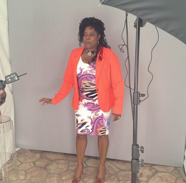 Loretta Devine posing for Essence portrait taken by photographer Michael Rowe!