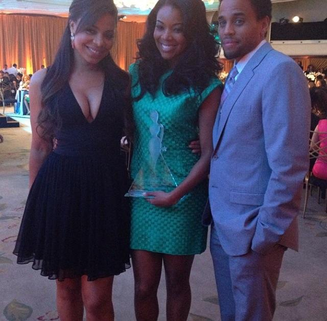 Sanaa Lathan, Gabrielle Union and Michael Ealy!