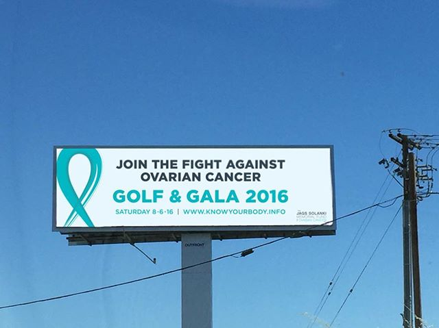 Driving down highway 99 at Calvine road in Elk Grove?  You may see #TeamJags on a billboard!  Register now for the final Golf & Gala for Ovarian Cancer.  Register now at register.knowyourbody.info
