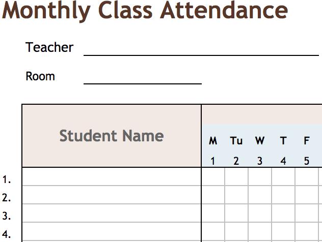 Daily Class Attendance
