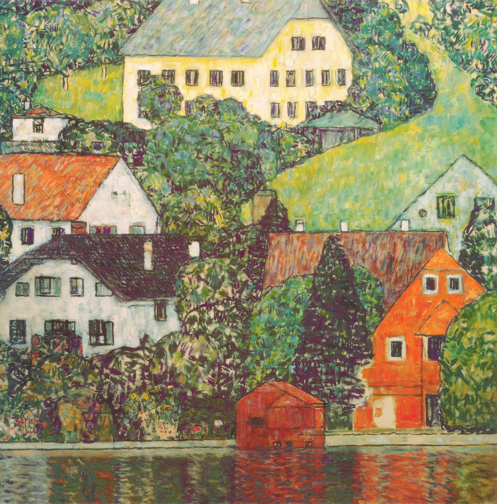Houses in Unterach on Lake Atter (1916)