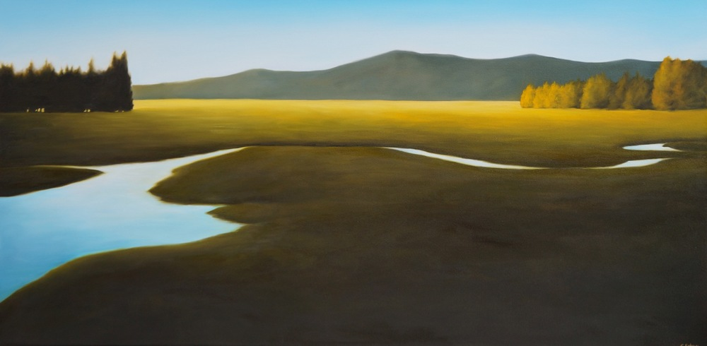 "The Light of Summer  oil on canvas  30"" x 60"""