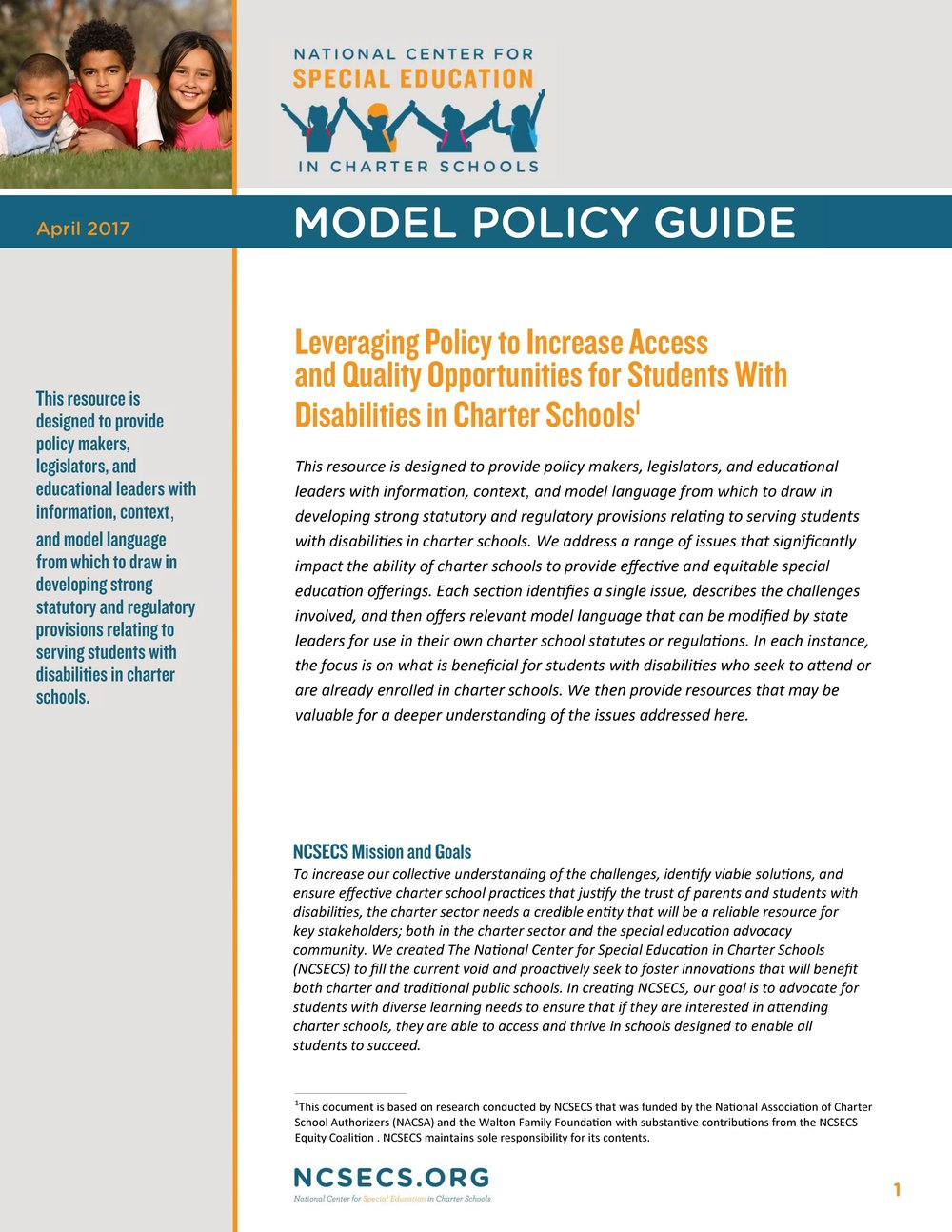 For Students With Disabilities Quality >> Model Policy Guide National Center For Special Education In
