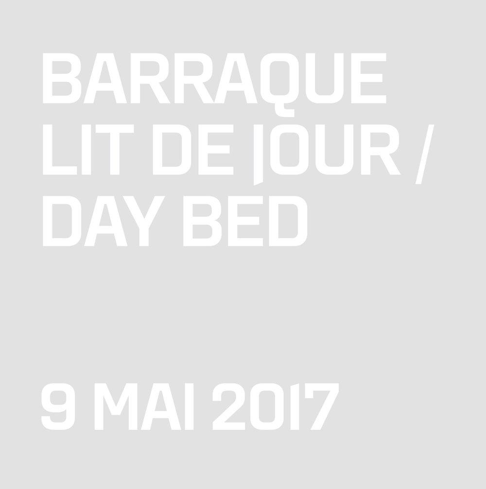 LIT DE JOUR / DAYBED