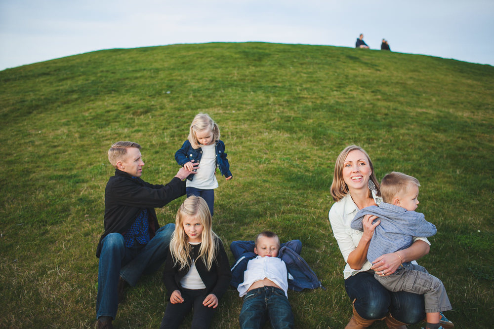 Meyer family photos at Gas Works Park. Seattle, WA.