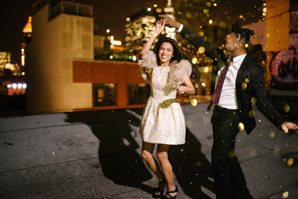 dancing in glitter