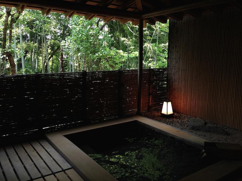 An onsen (natural hot spring bath) at Beniya Mukayu (Kaga Onsen)