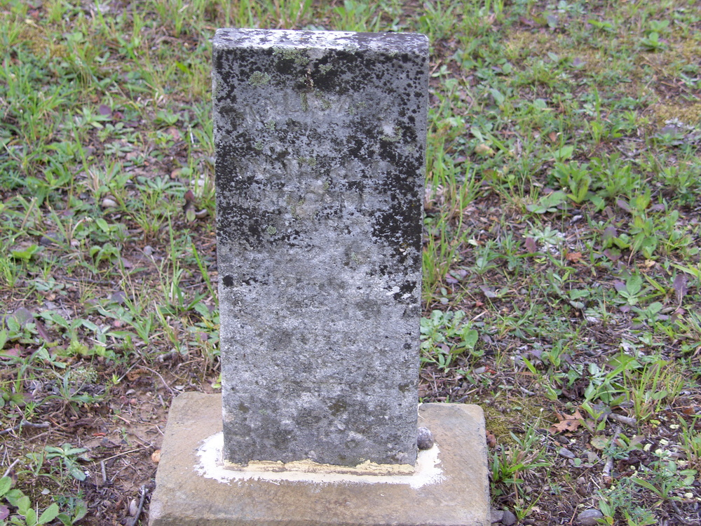 This is the headstone of Malisa A. Montgomery (1857-1867) who is the first Montgomery family member buried who still has a headstone.  She was the young daughter of William B Montgomery and Pernecy ( White)  Montgomery.   I am fairly certain that there were other family members buried here prior to this but the markers used at that time no longer survive.