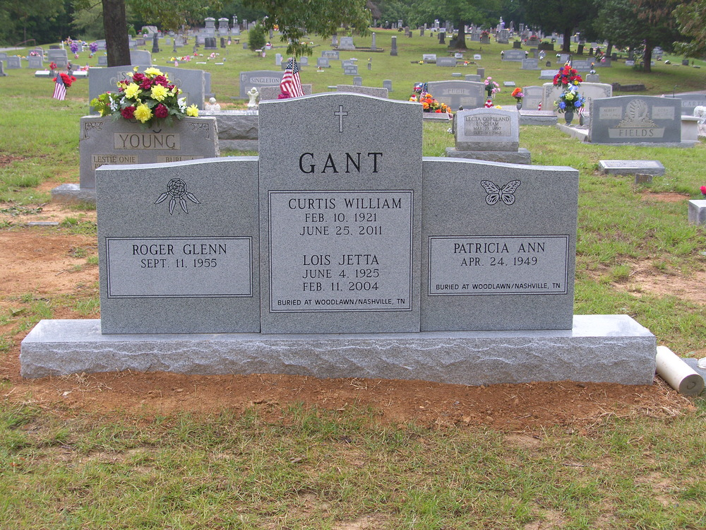 Curtis Gant ~ Family Headstone