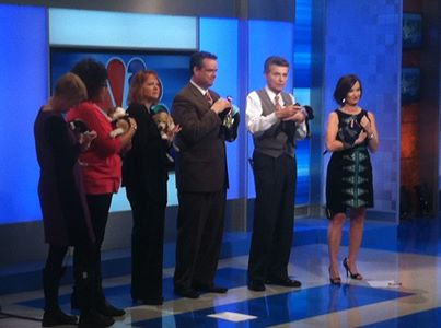 Puppy-segment with Larry Sprinkle & the crew of WCNC.