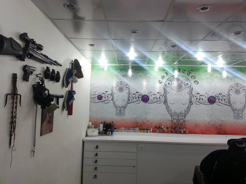 The underground studio of Esmaeil, an Iranian tattoo artist.