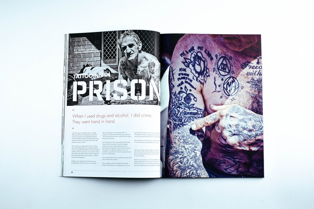 Tattooing in Prison, Things & Ink Magazine