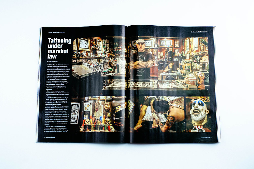 Tattooing under martial law, INKED magazine
