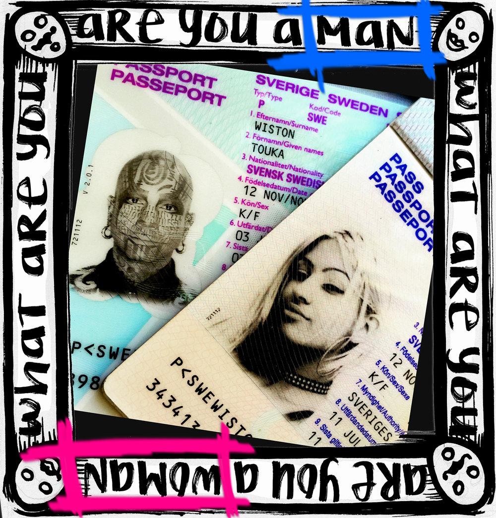 Touka's passport photos