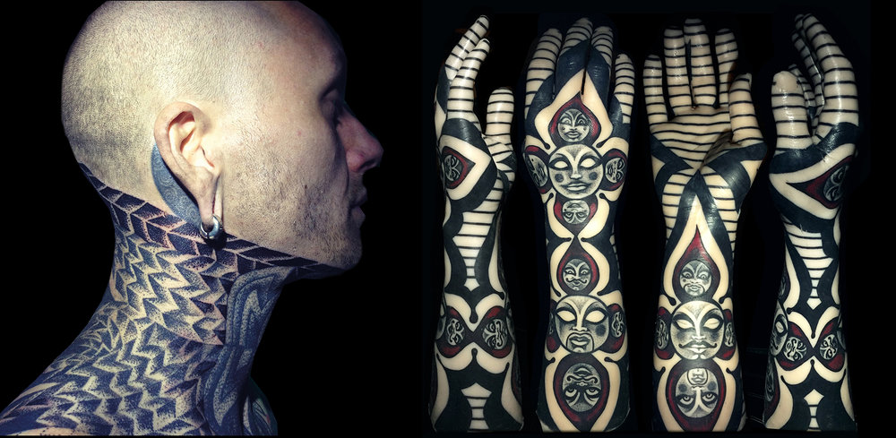 Touka Voodoo's tattoo work