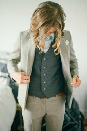16 Dapper Brides Who Said No To A Dress.    From vests to suits, you are sure to find the perfect attire for your wedding.