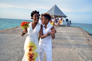 Jamaica's First Lesbian Wedding. Adorable and deeply moving.