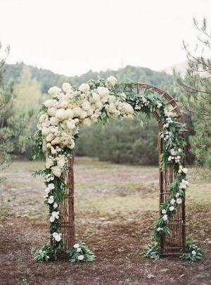 20 Beautiful Wedding Arch Decorating Ideas.    From simple to extravagant, there is something here to inspire everyone.
