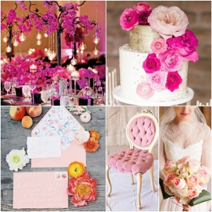 Charming Pink Wedding Ideas with Elegance. Glamorous and classic looks using pink to make your wedding day beautiful.