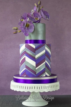 25 Wedding Cake Inspiration With Striking Color And Details. Your guests will be amazed with the splash of color at your reception that your cake brings to it.