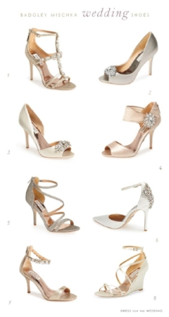 Badgley Mischka designer wedding shoes that you will love.