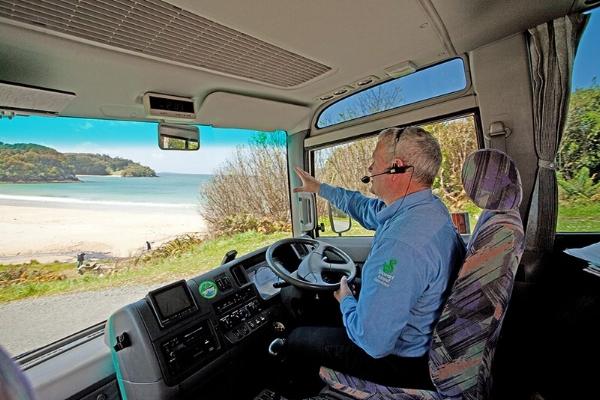 Stewart Island Bus Tour.