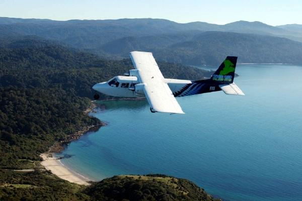 Copy of Flying over Stewart Island, New Zealand.