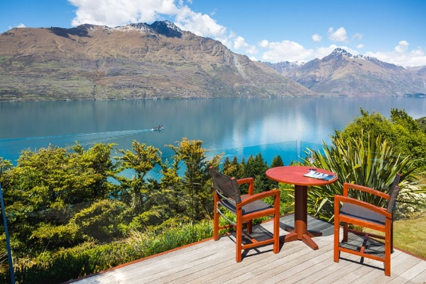 Outside Deck of Suite at the Azur, Queenstown.