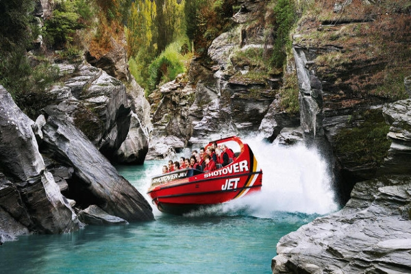 Shotover Jet, Queenstown, New Zealand.
