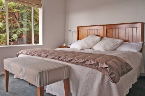 Lovely appointed Bedrooms at Stewart Island Lodge.